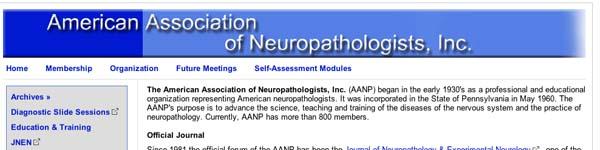 AmericanAssociationofNeuropathologistsIncAANP