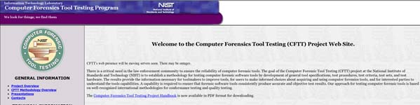 ComputerForensicsToolTestingCFTTProject