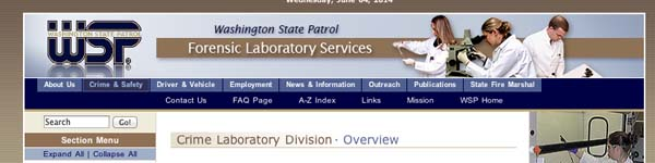 Crime Laboratory - Washington State Patrol