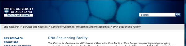 DNA Sequencing Facility - SBS Research