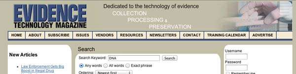 Evidence Technology Magazine: DNA