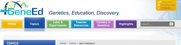 GeneEd: DNA Forensics