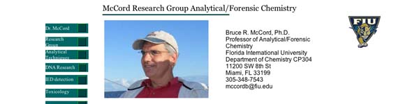 McCord Research Group Analytical/Forensic Chemistry