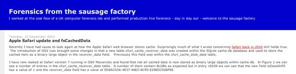 ForensicsfromtheSausageFactory
