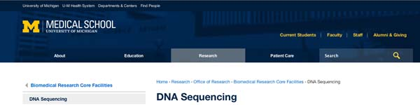 DNA Sequencing | University of Michigan Medical School